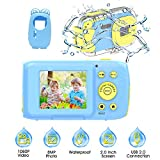 Kids Camera, Kids Waterproof Digital Cameras for Kids 1080P 8MP 2.0 Inch Large Screen with Silicone Protective Case