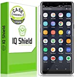 Galaxy Note 8 Screen Protector (2-Pack), IQ Shield LiQuidSkin Full Coverage Screen Protector for Galaxy Note 8 (Case Friendly, Version 2) HD Clear Anti-Bubble Film
