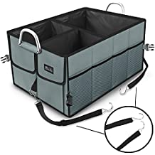 EletecPro Car Auto Trunk Storage Organizer with Straps Premium Quality Durable Collapsible Cargo Storage Foldable Bag WaterProof Cover