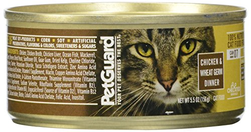 Pet Guard Chicken and Wheat Germ Dinner Canned Cat Food, 5.5