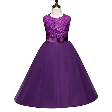 3887f61720213 子供ドレス ロングドレス女の子レースドレス セレモニー ワンピース フォーマル女児 キッズ 服 子供 ノースリーブ女の子