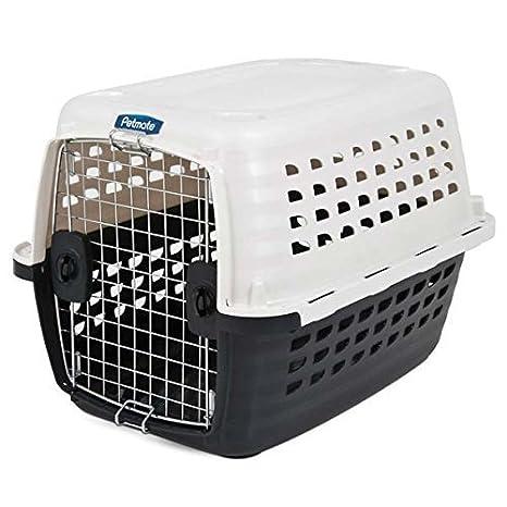 petmate 41033 Brújula de plástico mascotas Caseta con puerta de cromo, Metálico, Color blanco y negro por Doskocil: Amazon.es: Productos para mascotas
