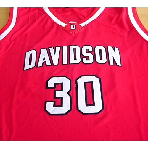 257463c03367 Stephen Curry Davidson Wildcats Signed Autographed Red  30 Jersey ...