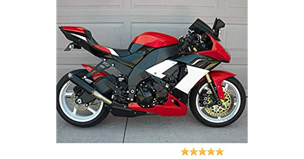 Moto Onfire Fairing Kits For 2008 2009 2010 Kawasaki Ninja ZX10R ZX-10R ZX 10R ABS Injection Mold - Red