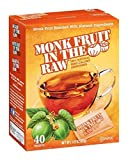 Monk Fruit In The Raw Zero Calorie Sweetener, 40 Count Boxes by Monk Fruit in the Raw