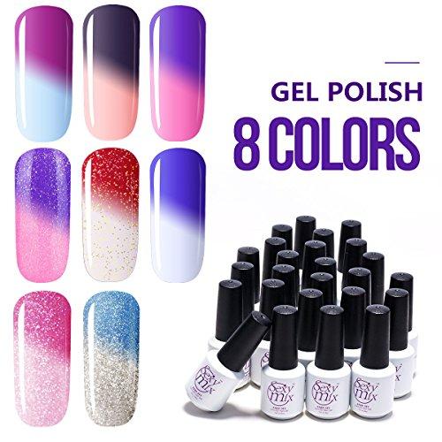 Amazon.com : Azure Beauty Gel Nail Polish Set Mood Color Change ...