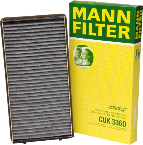 Mann-Filter CUK 3360 Cabin Filter With Activated Charcoal for select  Porsche models