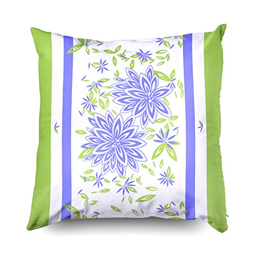 Leather Deco Sofa Art (TOMWISH Hidden Zippered Pillowcase Chic Outdoor Pretty Periwinkle Floral Outdoor 16X16Inch,Decorative Throw Custom Cotton Pillow Case Cushion Cover for Home Sofas,bedrooms,Offices,and More)