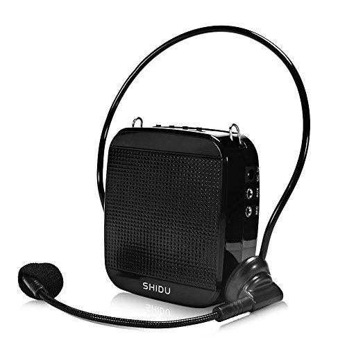 aoile portátil 15W de alta potencia recargable amplificador de la voz con micrófono Wired y cintura apoyo MP3formato de...