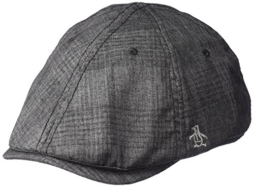 Original Penguin Men's Textured Driving Cap, Black, OSFA