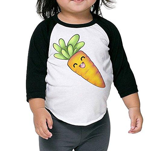 Lisenict Kawali Carrot Toddler Baseball Tee Size3 (Halloween Carrot Cupcakes)