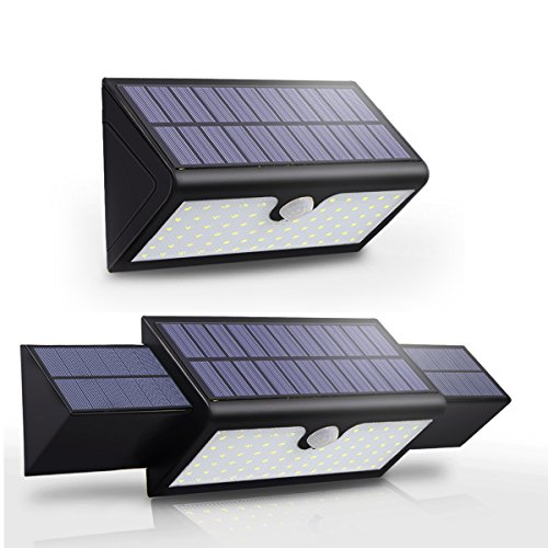 Solar Powered Motion Wall Lights Infrared 71 LED Bright Security Wireless Motion Sensor Lights Exterior Decorative Lighting for Garden Patio Gutter Pathway Garage Porch Street