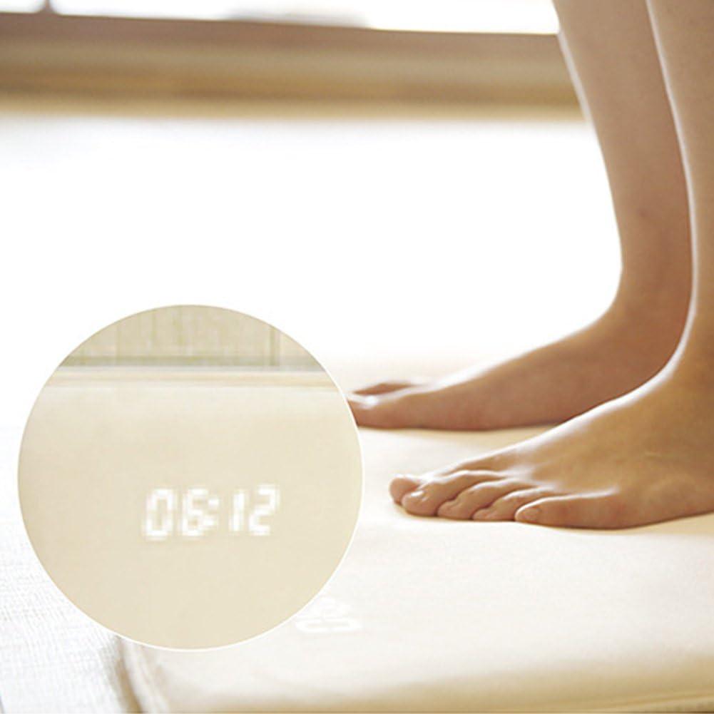6SHINE Tapis Multifonction /à LED Smart Digital avec Fonction r/éveil Wei/ß 38 cm 40 cm 38 cm Blanc 40 cm