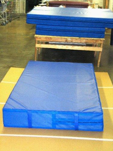 Blue 4'x8'x8'' Landing Mat Gymnastics by BBS