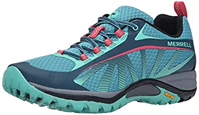 Merrell Women's Siren Edge Hiking Shoe, Blue, 10.5 M US