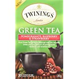 Twinings of London Pomegranate, Raspberry, and Strawberry Green Tea Bags, 20 Count