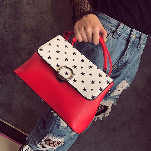 Crossbody Bolsas Commutación Bolsa Handbag Red Color Elegante Hit Hombro Simple Ms ZLLNSXKB Salvaje De Fashion xSnqpOO