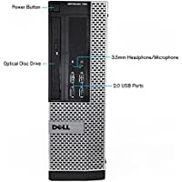 Dell OptiPlex 790 Desktop SFF PC - Intel Core i5-2400 3.1GHz, 16GB DDR3 Memory, 1TB HDD, WIFI, Windows 10 Pro (Certified Refurbished)