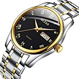 Men's Weekender&Calendar Black/Brown StrapHappy Valentine's Day, Valentine's Day Gifts,Mens Watches,Classic Casual Watch with Black/Blue/White Dial,Waterproof 30M