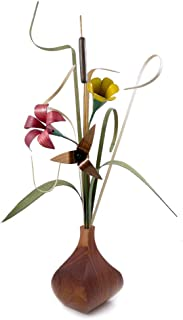 product image for Wood Wildflowers Table-top Arrangement with Walnut Vase, American Made Woodwork