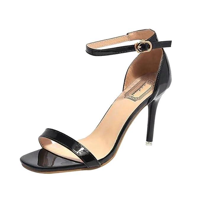 734b2667429 DENER Women Ladies Girls Summer High Heels Sandals, Kitten Heel One ...