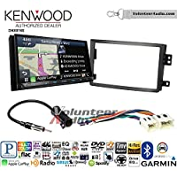 Volunteer Audio Kenwood DNX874S Double Din Radio Install Kit with GPS Navigation Apple CarPlay Android Auto Fits 2006-2009 Nissan 350Z