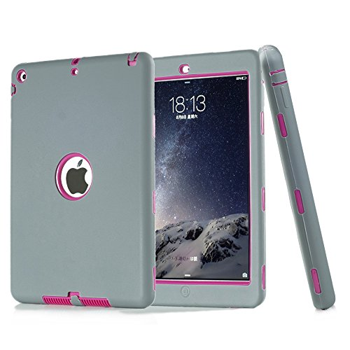 iPad 5 Case, iPad Air Case, Vivi Full-body Heavy Duty Beetle Defense High Impact Resistant Hybrid 3 Layer [Silicone&PC] Combo Case For Apple iPad 5(iPad Air) (grey)