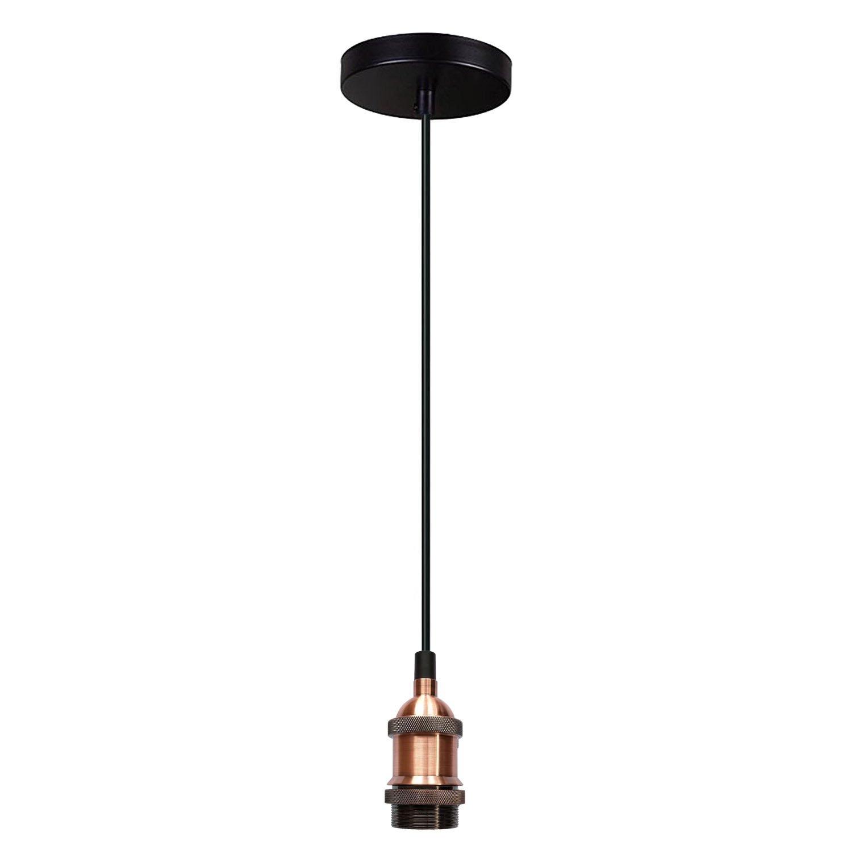 Yunte Vintage Edison LED Light Bulb A19 Dimmable Decorative Lamp Flexible LED Filament Bulb, E27 Screw Base, Warm White 2200K, 4W Equivalent 25W, 220V, Amber (1 Pack)