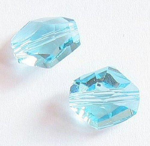 2 pcs Swarovski Crystal 5523 Cosmic Bead Aquamarine 12mm / Findings / Crystallized Element