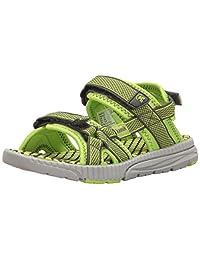 Kamik Kids' Match Sandal, Lime, 5 M US Big Kid