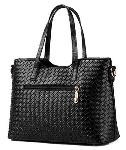 Alidear Women's Brand New Handbag Shoulder for Purse High set bag Top Tote New 2018 and Black Ladies Bag 3 Designer Quality Bags Fashion Handle rq0prS