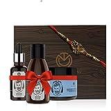 The Man Company Rakhi Beard Care Kit (Almond beard oil + beard Wash+ Argan &Mint beard Cream) (Free Rakhi Inside)