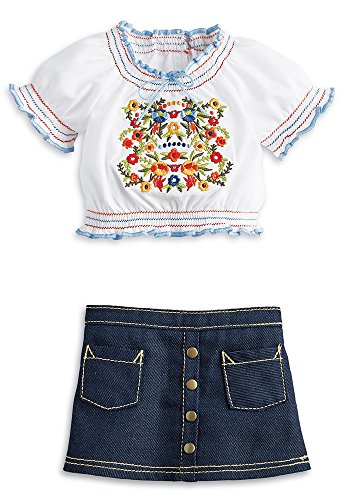 American Girl Julie's Peasant Top Outfit for 18-inch Dolls
