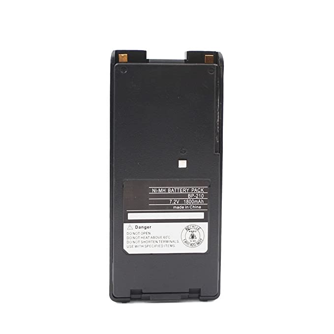BP-210 BP-210N 1800mAh Ni-MH Battery Compatible for ICOM IC-A6 IC-A24 IC-F3GT IC-F21 IC-F30GT IC-F31GT IC-F40GT IC-F41GS BP-209N BP-222N
