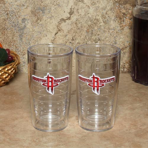 Tervis 1052167''NBA Houston Rockets'' Tumbler, 16 oz, Clear by Tervis