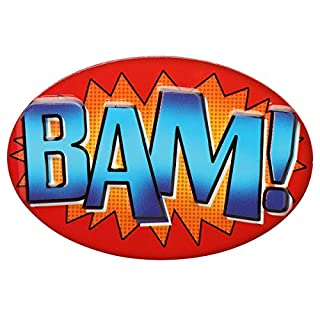 Open Road Brands Comic Book BAM Embossed Metal Magnet - an Officially Licensed Product Great Addition to Add What You Love to Your Refrigerator