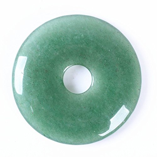 Donut Aventurine (40mm Beautiful Gemstone White Turquoise Donut Pendant Bead 1Pcs,DIY Jewelry Accessories For Necklace 1.6