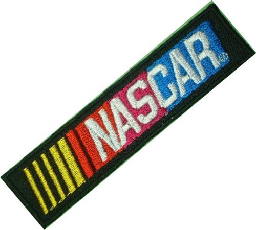 Nascar Race Packages (NASCAR Racing Race Game Cars Black Patch Sew Iron on Logo Embroidered Badge Sign Emblem Costume BY Dreamhigh_skyland)