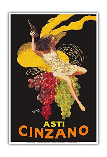 Asti Cinzano - Asti Spumante - Italian Sparkling White Wine - Vintage Advertising Poster by Leonetto Cappiello c.1910 - Master Art Print - 13in x 19in