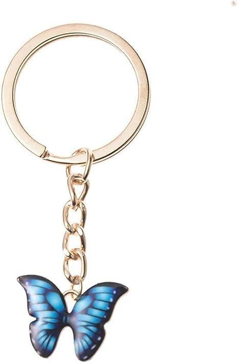 NEW Butterfly Metal Keyring Key Finder Handbag Charm