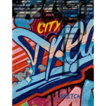 """Sketch: 8.5 x 11 Large Graffiti Sketch Book Journal, """"Big City Dreams"""" Cover, Blank Notebook Unlined Paper for Drawing, Writing, Doodling (Art Sketch Pad), 100 Durable Unruled Pages"""