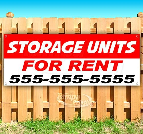Store Flag, New Advertising Many Sizes Available Storage Units for Rent 13 oz Heavy Duty Vinyl Banner Sign with Metal Grommets