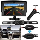 DohonesBest Wireless Backup Camera and Monitor Kit for car/suv/mpv/Van/gmc IP68 Waterproof 135° Viewing Angle 7 LED IR Night vision Rear View Camera Reverse Guide Lines
