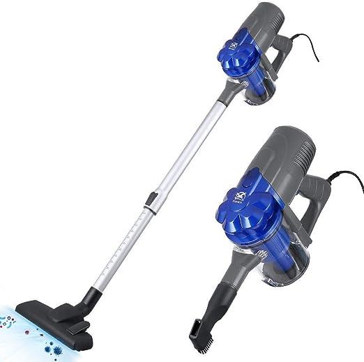 DLYGH con Cable palillo de aspiradoras, 600W Potente succión 2 en 1 Vac Hoover for el hogar, alfombras y Pisos Duros: Amazon.es: Hogar