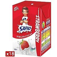 Safio UHT Strawberry Flavored Milk, 18 x 125 ml