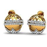 JewelsForum 14Kt Yellow Gold Classic Diamond Studs Earrings 0.8 Carat TCW