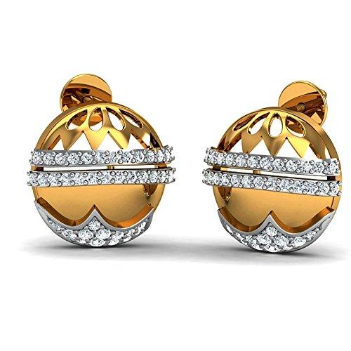 JewelsForum 14Kt Yellow Gold Classic Diamond Studs Earrings 0.8 Carat TCW by JewelsForum