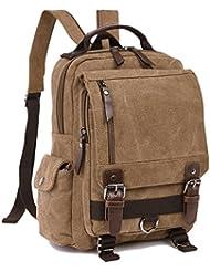 ZUOLUNDUO Small Canvas Backpack Schoolbag Shoulder Bag Rucksack Daypacks