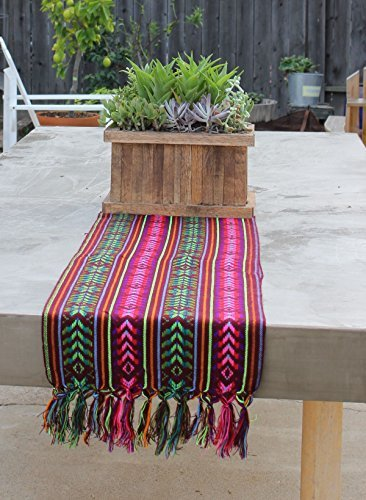 Buy Del Mex Woven Rebozo style Mexican Table Runner Scarf