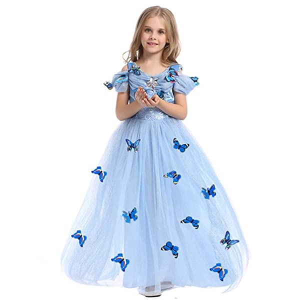 8T, Cinderella Dress Pink Ecparty Princess Costumes Dress for Your Little Girls Dress up